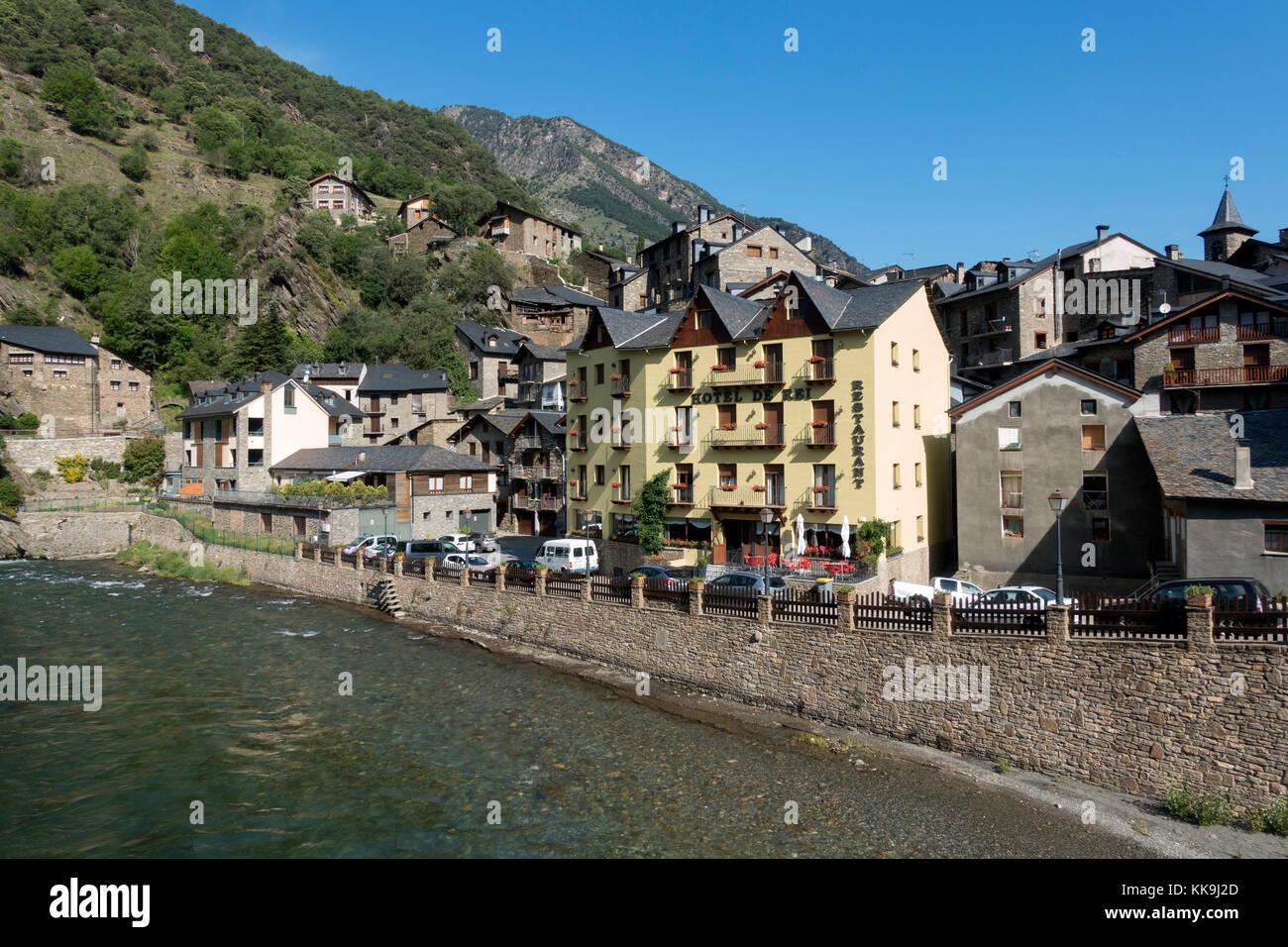 Llavorsí village.Lleida provice.Catalonia.Spain - Stock Image