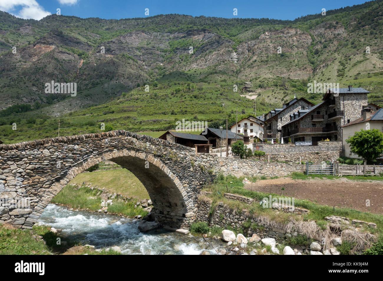 Old romanic bride.Espot.Lerida province.Catalonia.Spain - Stock Image