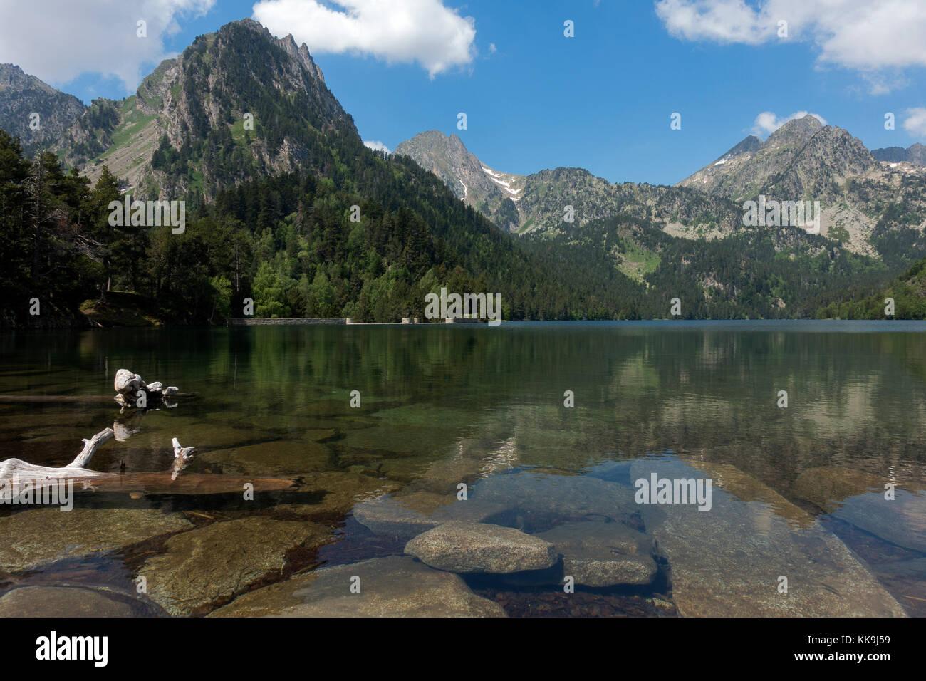 Estany de Sant Maurici.Aiguestortes National Park.Catalonia.Spain - Stock Image