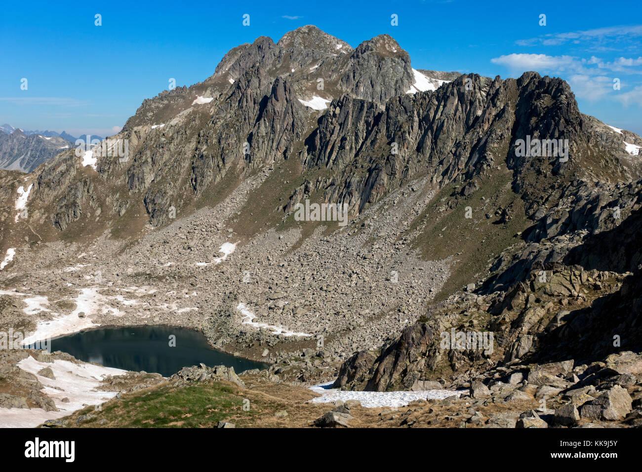 Montardo peak (2833m).Aiguestortes National Park.Catalonia.Spain - Stock Image