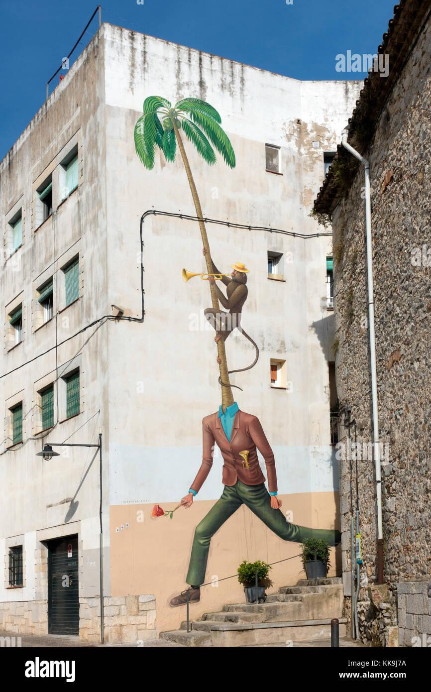 Graffiti.Gerona.Catalonia.Spain - Stock Image