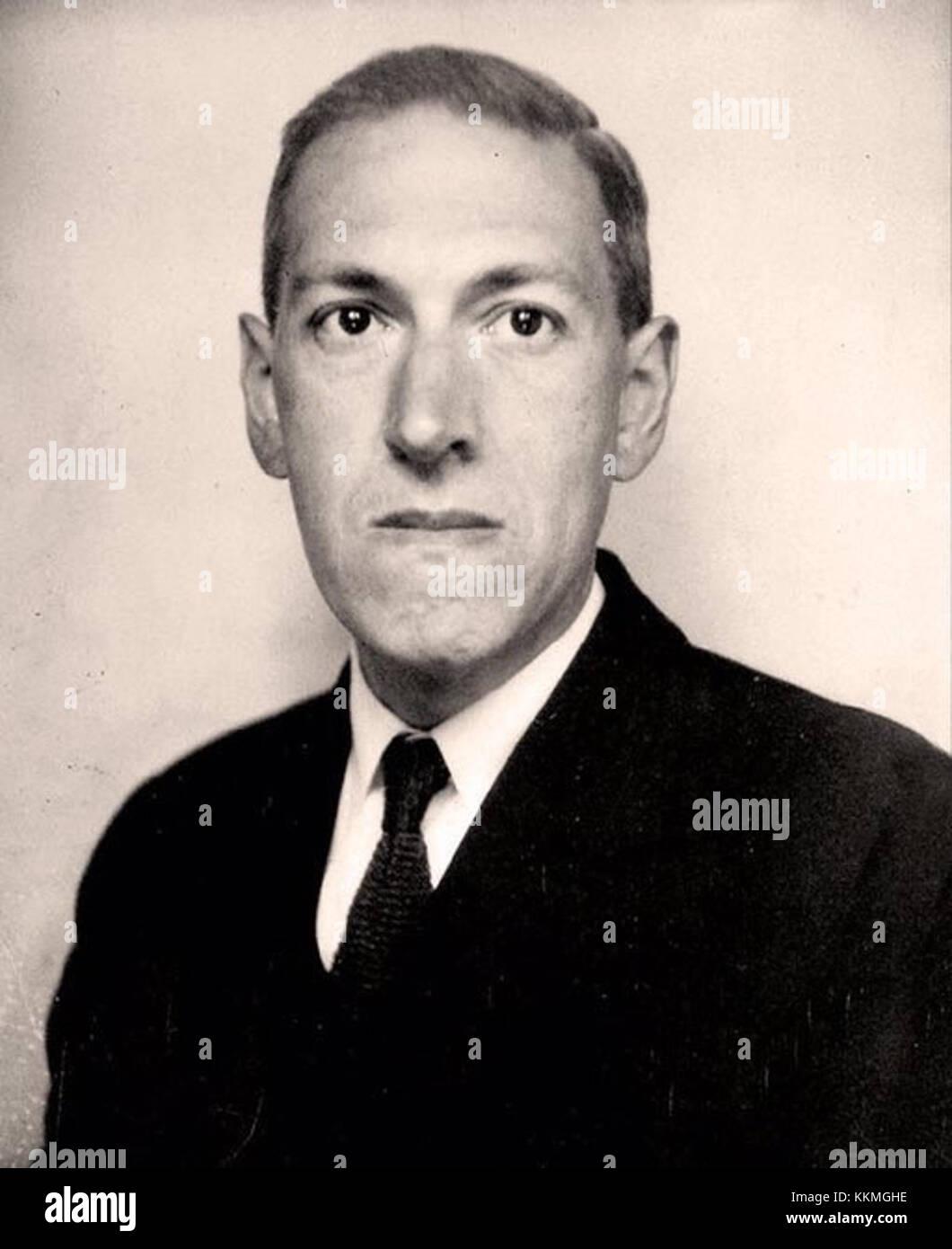 H. P. Lovecraft, June 1934 Stock Photo