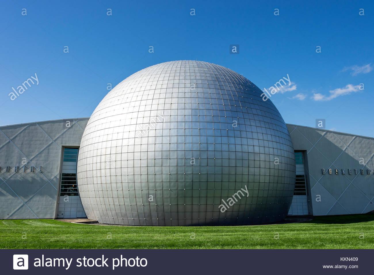 Naismith Memorial Basketball Hall of Fame, Springfield, Massachusetts, USA. - Stock Image