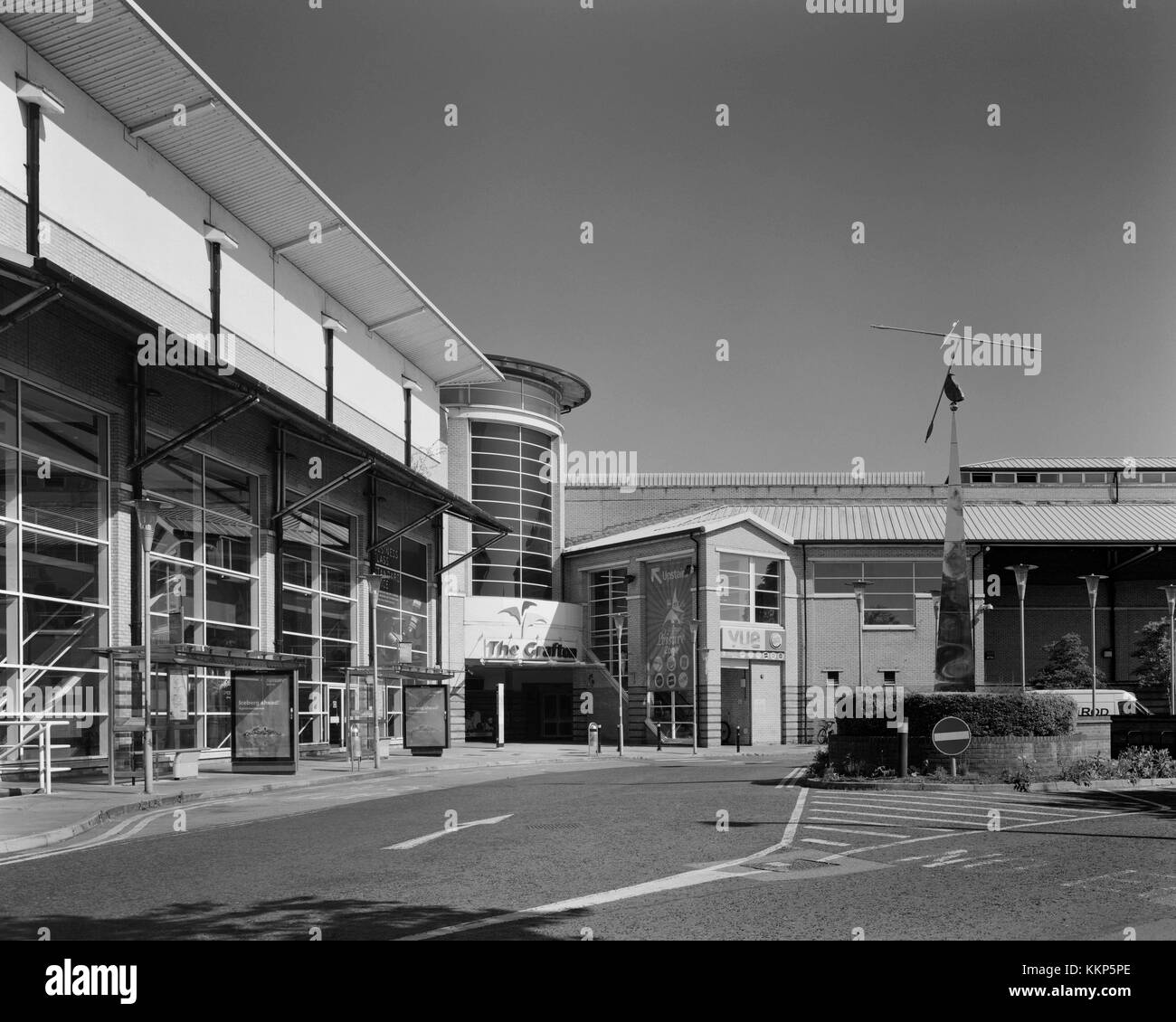 East Road entrance to the Grafton shopping centre in Cambridge - Stock Image