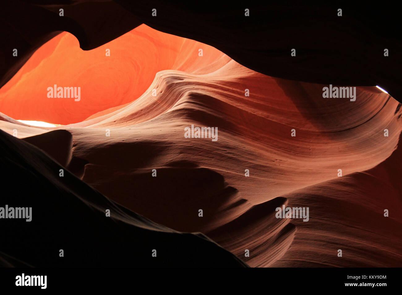 Upper Antelope Canyon, Page, Arizona, United States - Stock Image