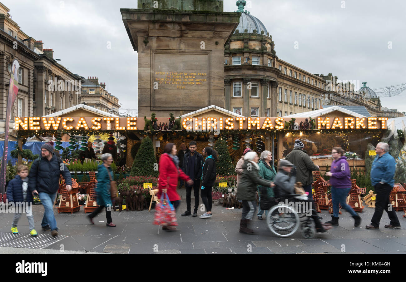 Newcastle Christmas Market 2017, Newcastle upon Tyne, England, UK Stock Photo