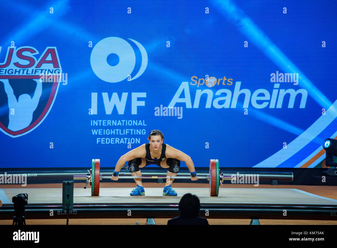 Anaheim, NOV 30: 2017 Bordignon Giorgia International Weightlifting Federation World Championships on NOV 30, 2017 - Stock Image