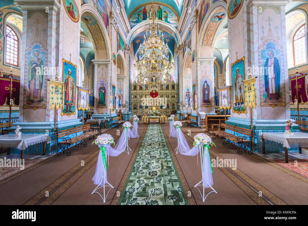 Interior of Saint Volodymyr Church of Carmelite monastery in