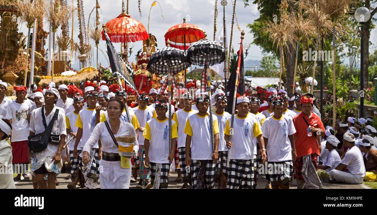 Panca Wali Krama, holy Celebration at Besakih temple every ten years, Bali, Indonesia - Stock Image