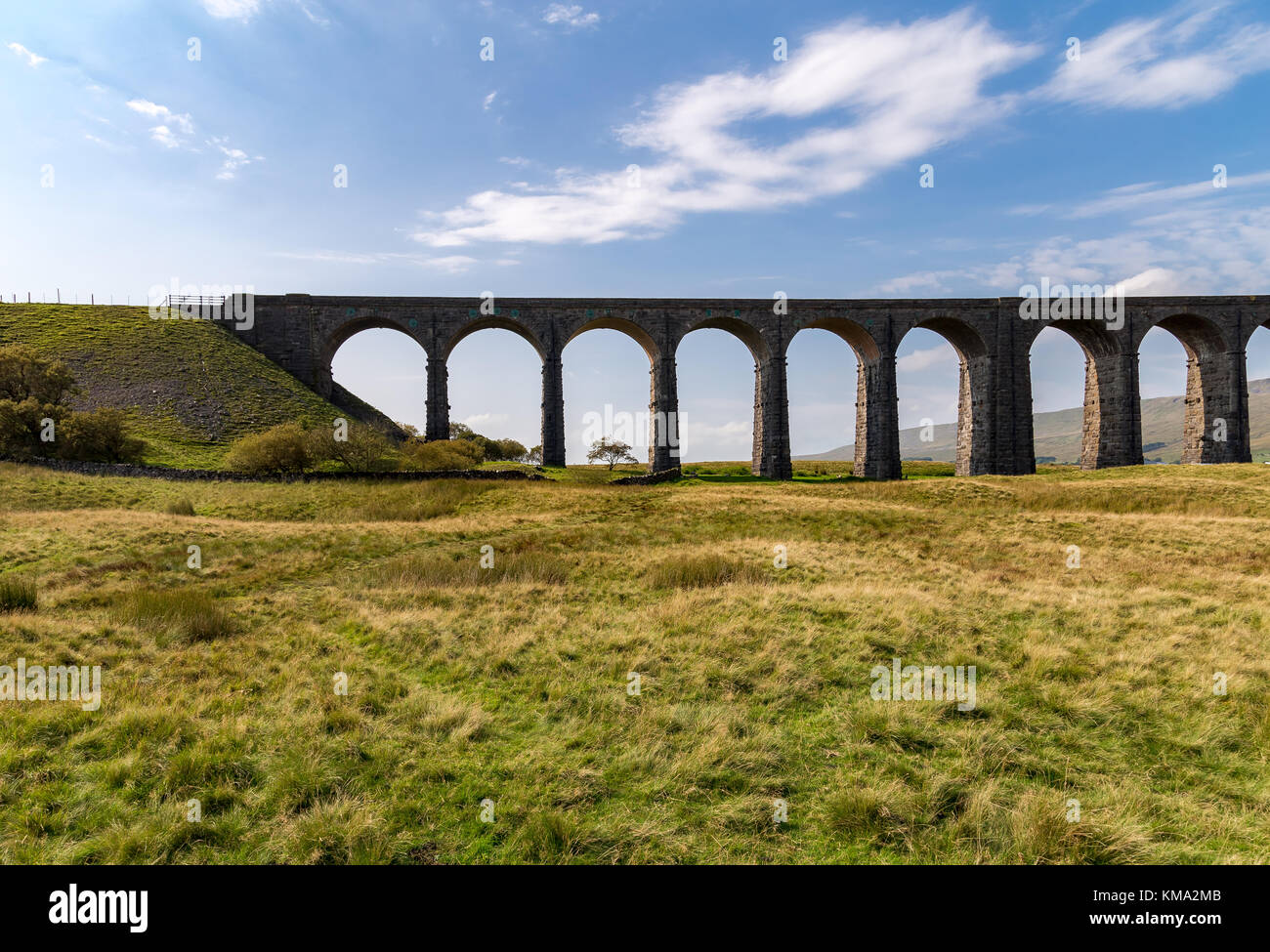 Ribblehead Viaduct, near Ingleton, Yorkshire Dales, North Yorkshire, UK - Stock Image