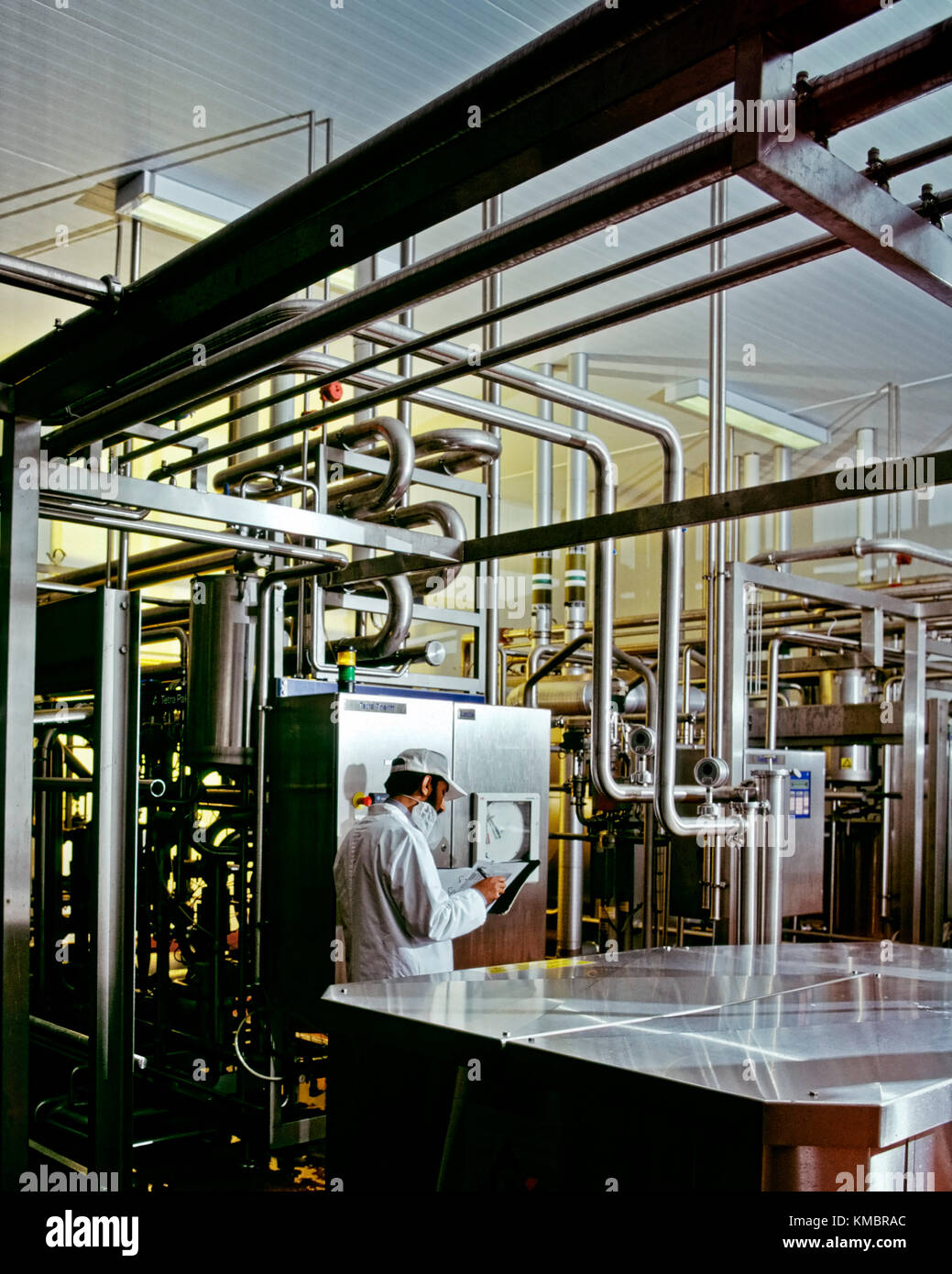 Milk pasteurisation plant - Stock Image