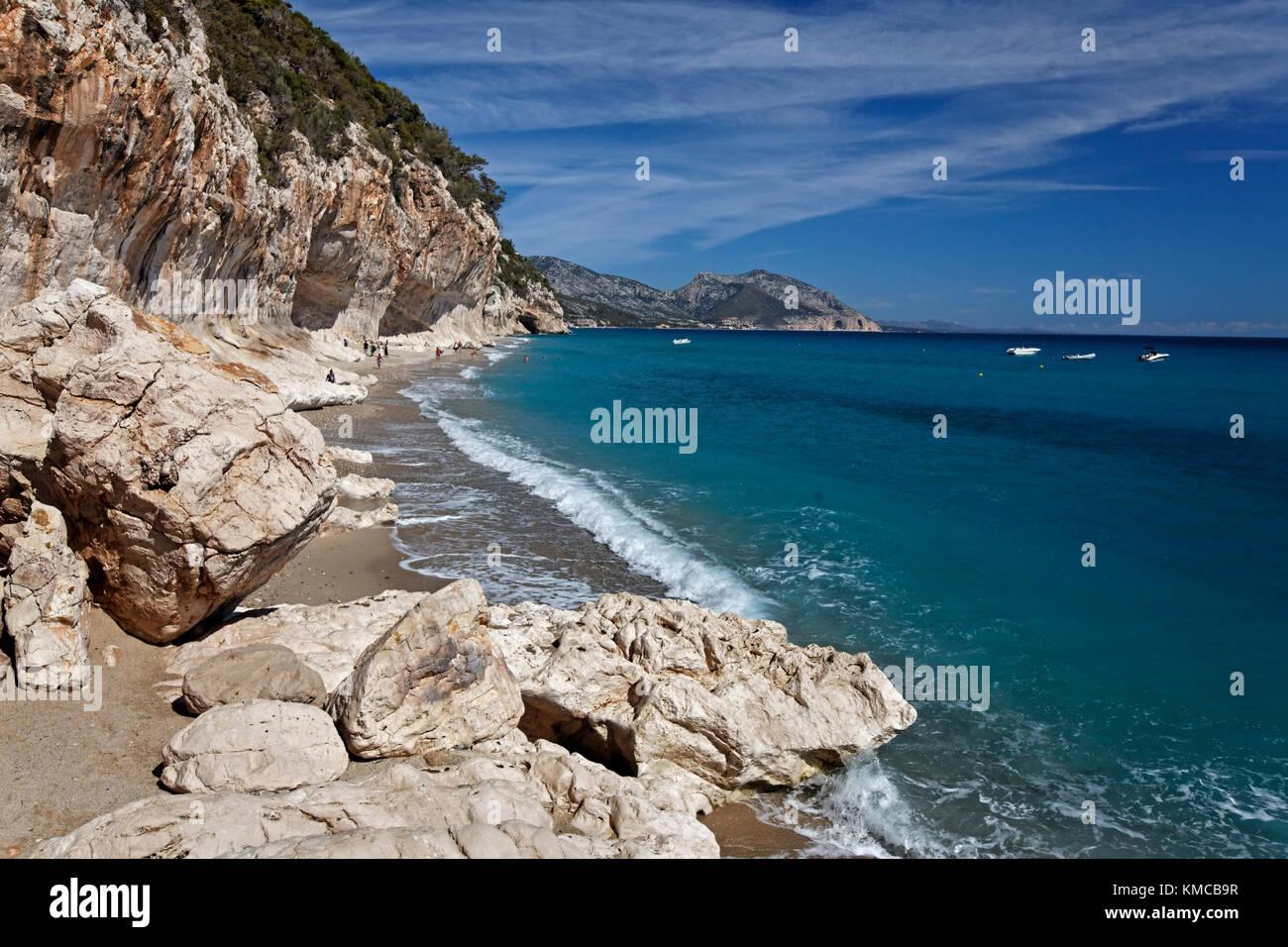 Cala di Luna Italy Sardinia - Stock Image