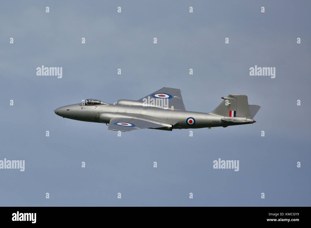 English Electric Canberra PR9 XH134 at the Abingdon Air Show 2014, UK Stock Photo