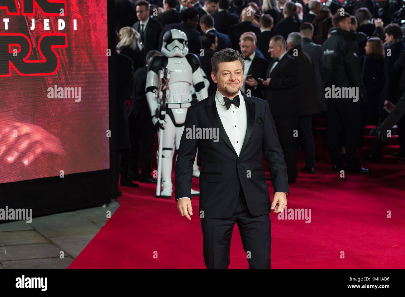 London, UK. 12th Dec, 2017. Andy Serkis arrives for the European film premiere of 'Star Wars: The Last Jedi' - Stock Image