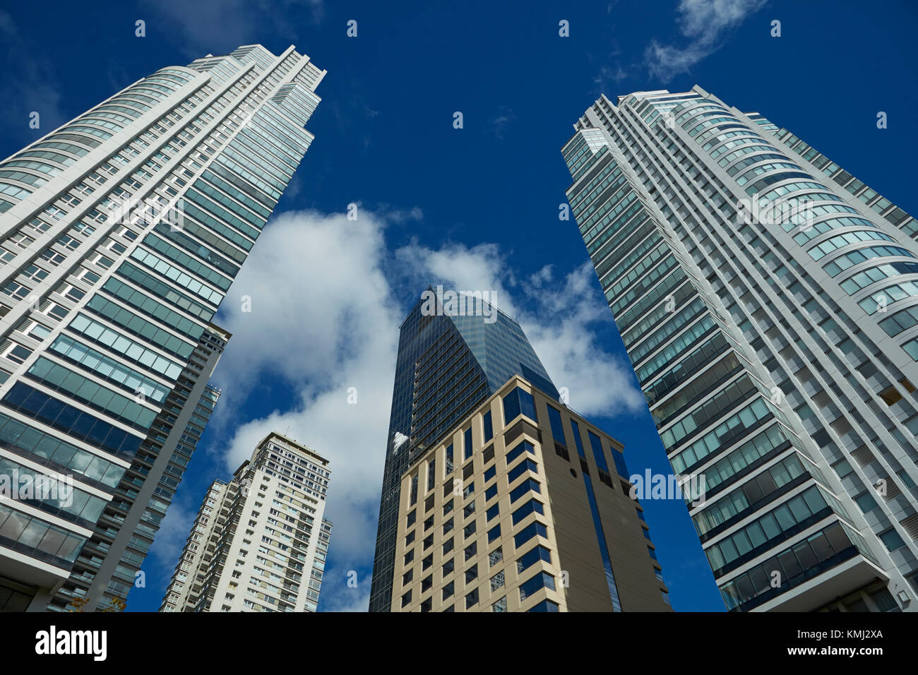 Tower blocks, Puerto Madero, Buenos Aires, Argentina, South America - Stock Image