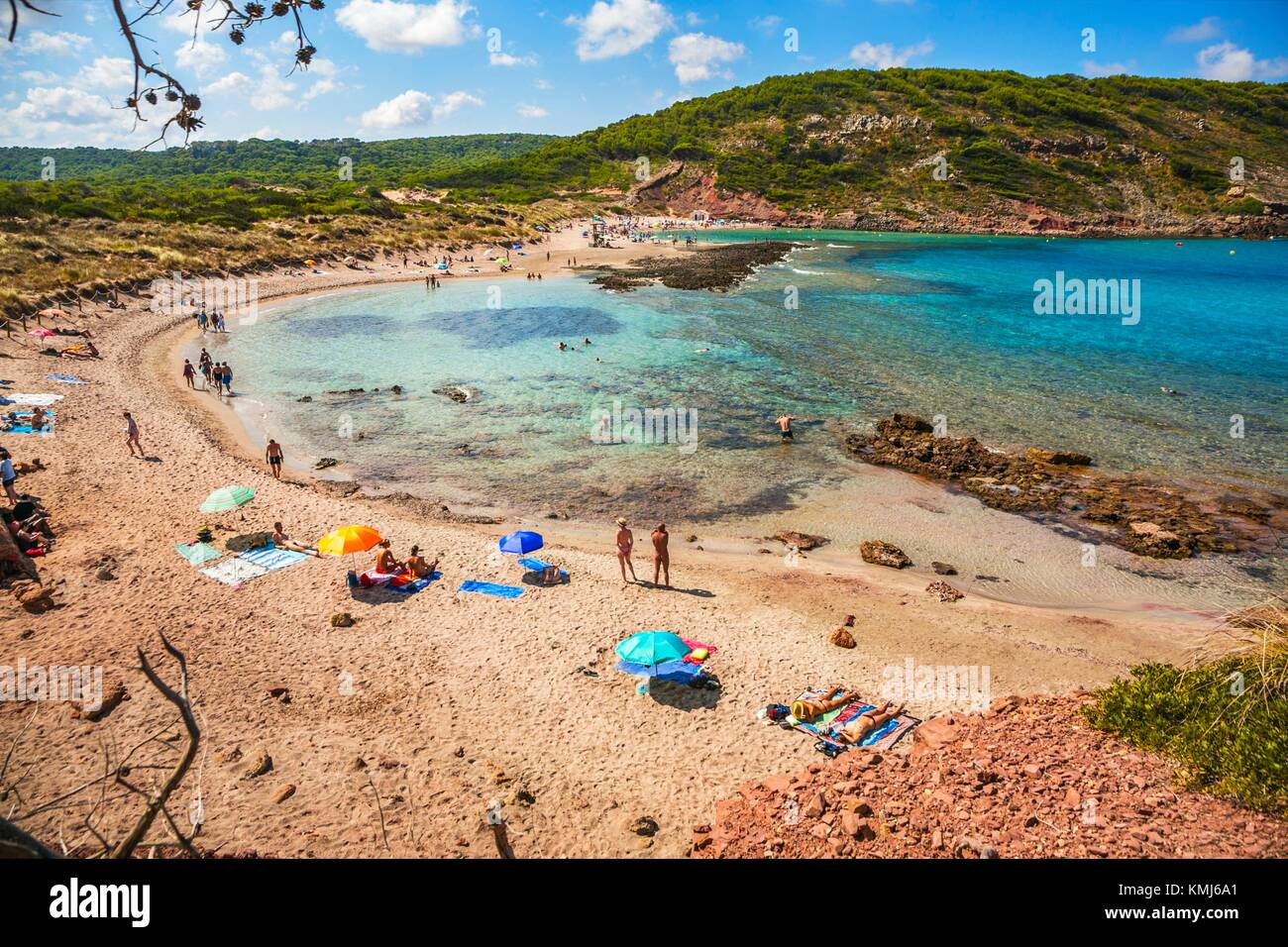 Cala Algaiarens beach. Es Tancats beach. Ciutadella de Menorca Municipality. Minorca. Balearic Islands. Spain Stock Photo