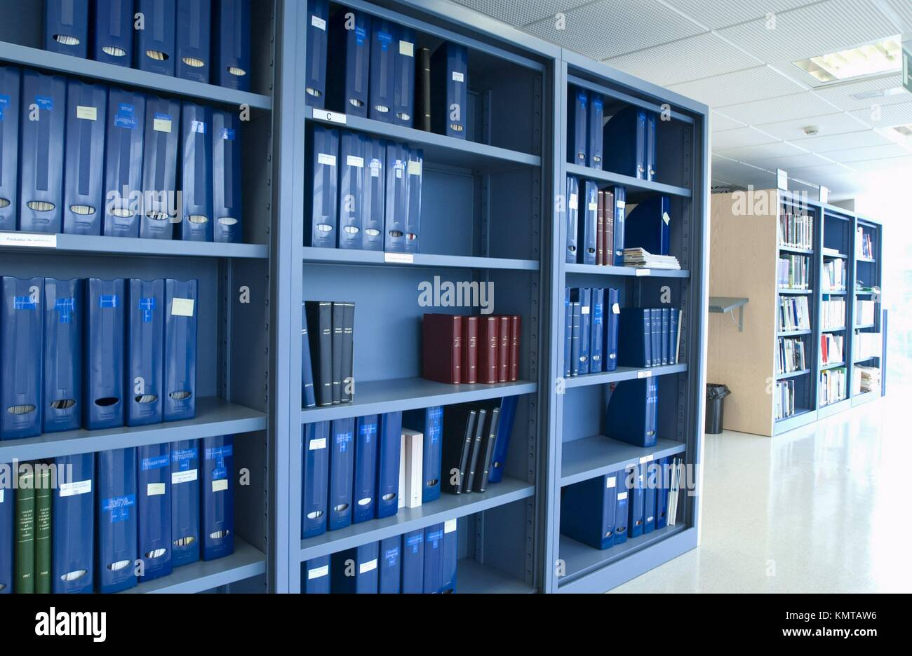 Library, Archive Documents - Stock Image
