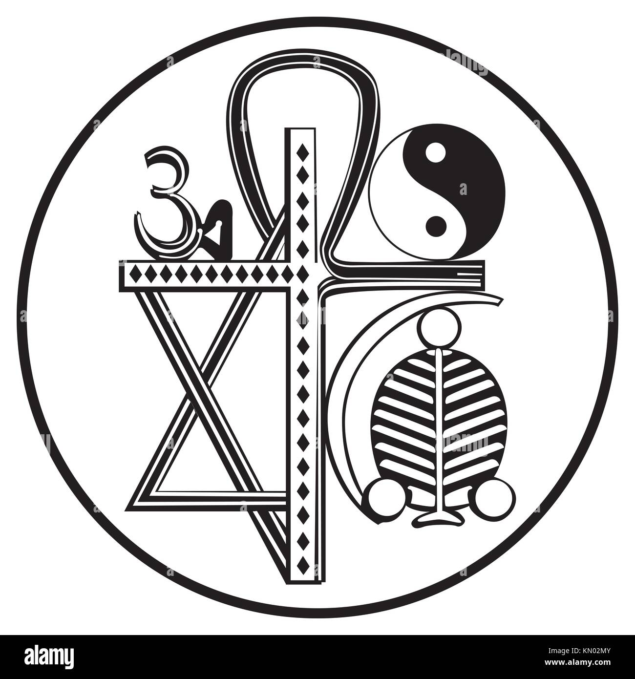Religion symbols cut out stock images pictures alamy universal religions and religious symbols isolated on white stock image biocorpaavc Gallery