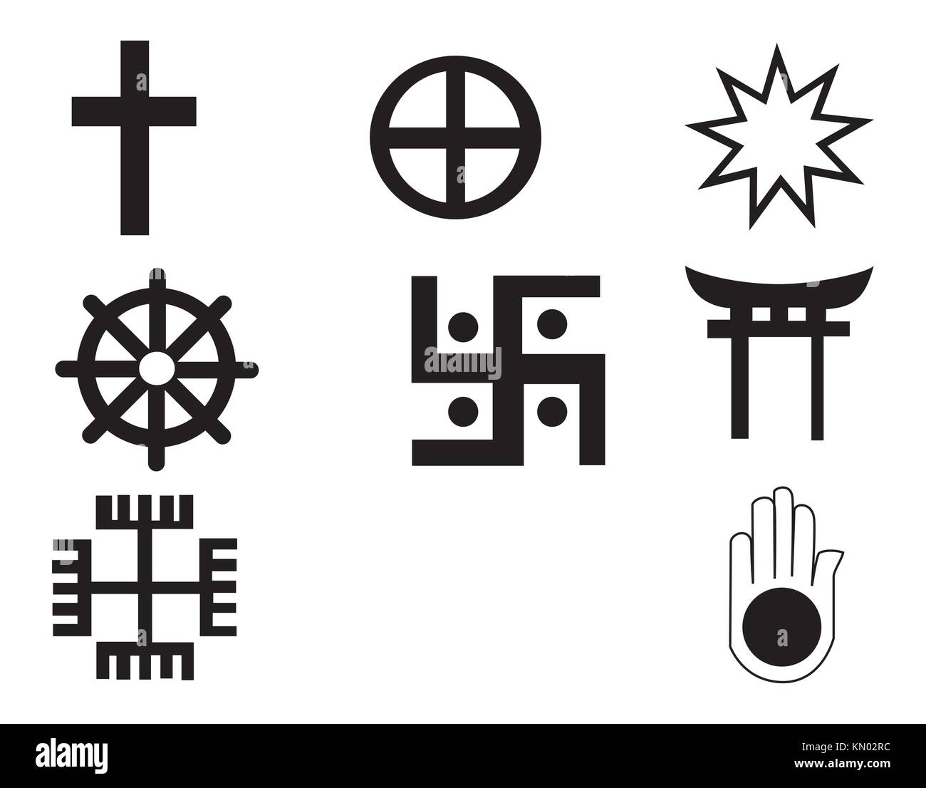 Religion symbols cut out stock images pictures alamy different religions symbols stock image biocorpaavc Gallery