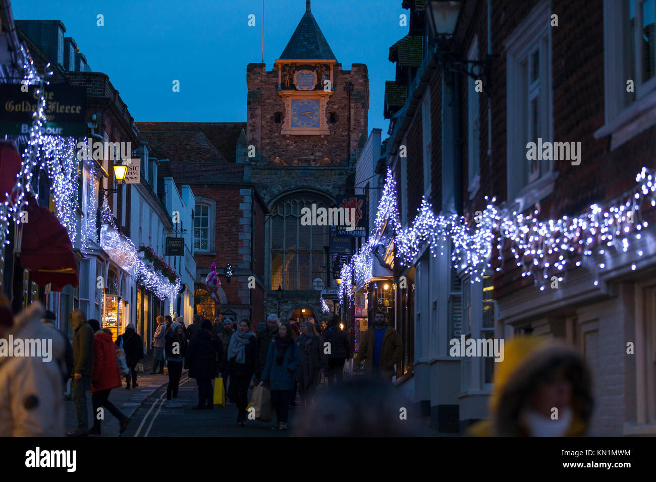 Rye, East Sussex, UK. 9th December, 2017. The ancient town of Rye Christmas festival which takes place along the Stock Photo