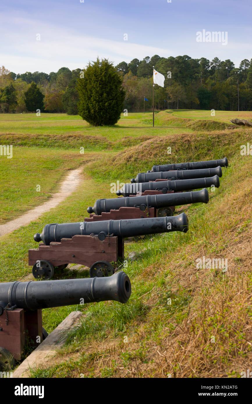 USA Virginia VA Yorktown Historic Triangle Yorktown Battlefield Redoubt National Park Service - Stock Image
