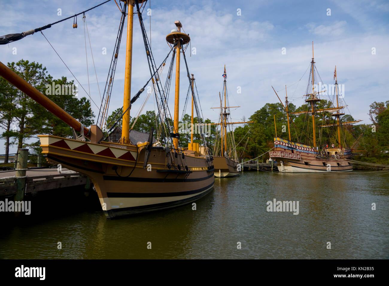 usa-virginia-va-historic-jamestown-settlement-three-ships-susan-constant-KN2B35.jpg