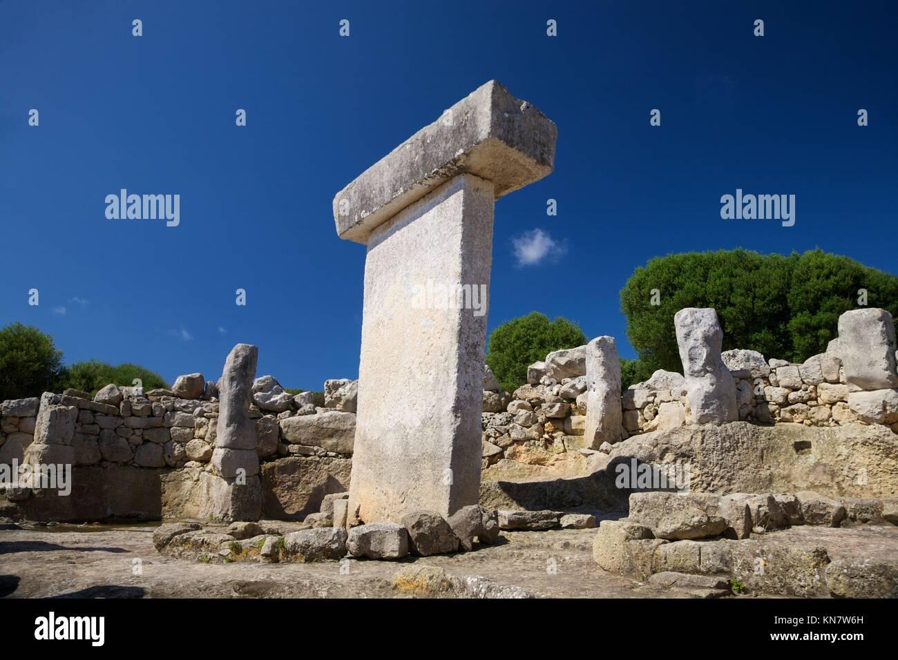 Torralba den Salord prehistoric town at Menorca Island in Spain. - Stock Image