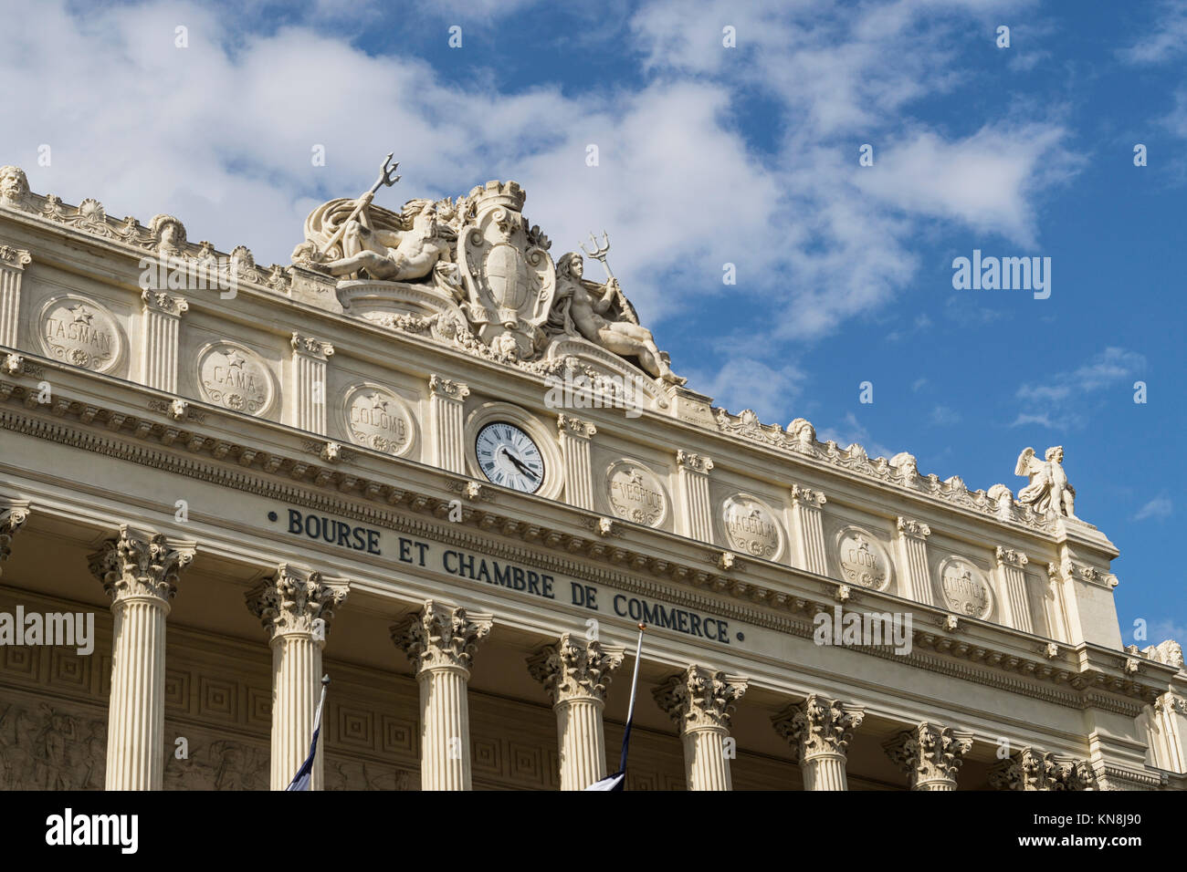 Stock Exchange building, Chambre of Commerce, Musee de la Marine, Marseille, France - Stock Image