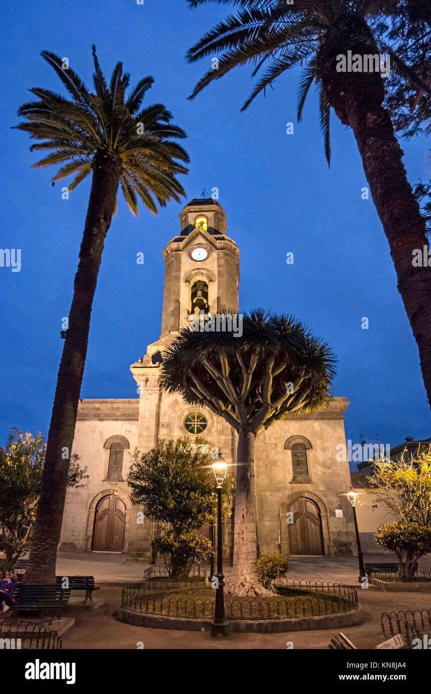 Iglesia de la Pena de Francia church Puerto de la Cruz city Tenerife island - Stock Image