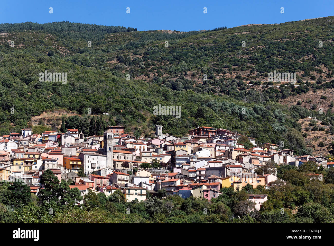 Arizo, Mountain village, Sardinia, Italy - Stock Image