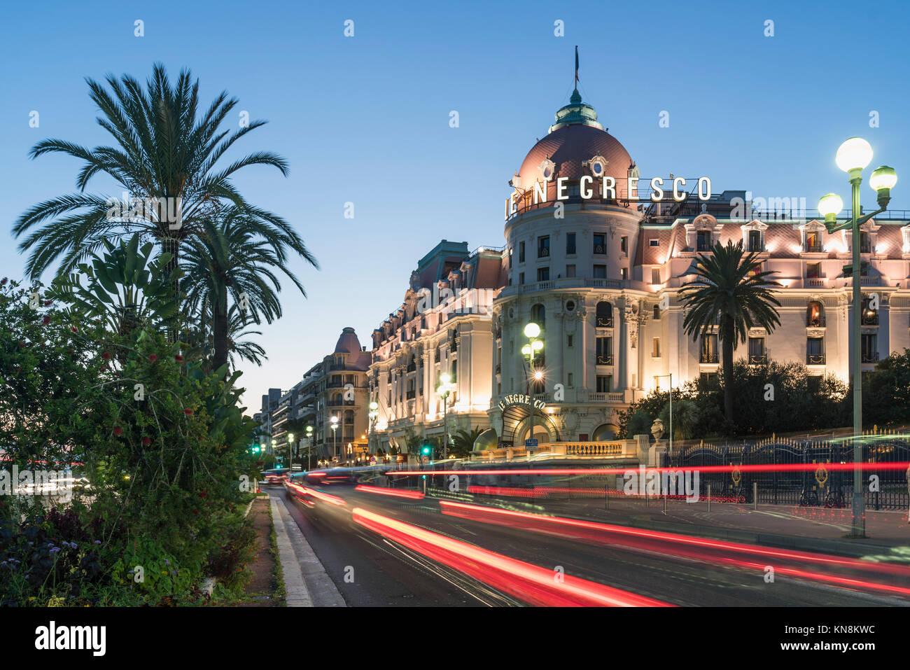 Hotel Negresco, Promenade des Anglais, Nice, Cote d' Azur, France, - Stock Image
