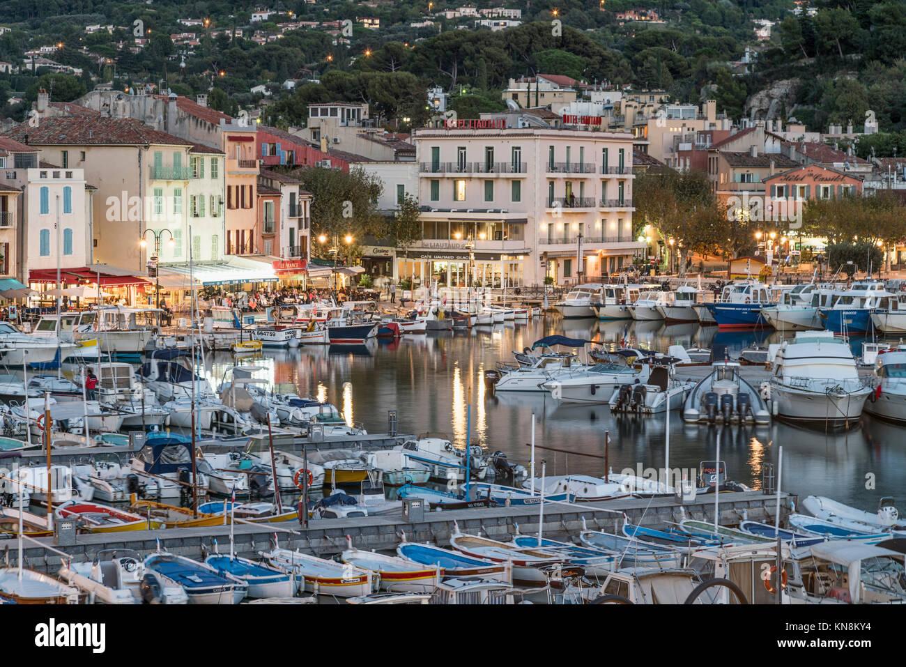 Cassis , Harbour, Provence-Alpes-Cote dAzur, Bouches-du-Rhone, France, - Stock Image