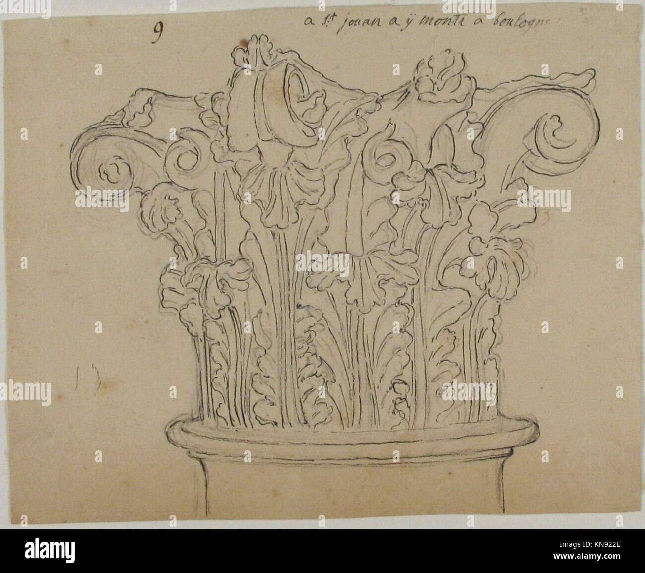 Capital with Acanthus Leaves MET 63.712.77 356272 - Stock Image