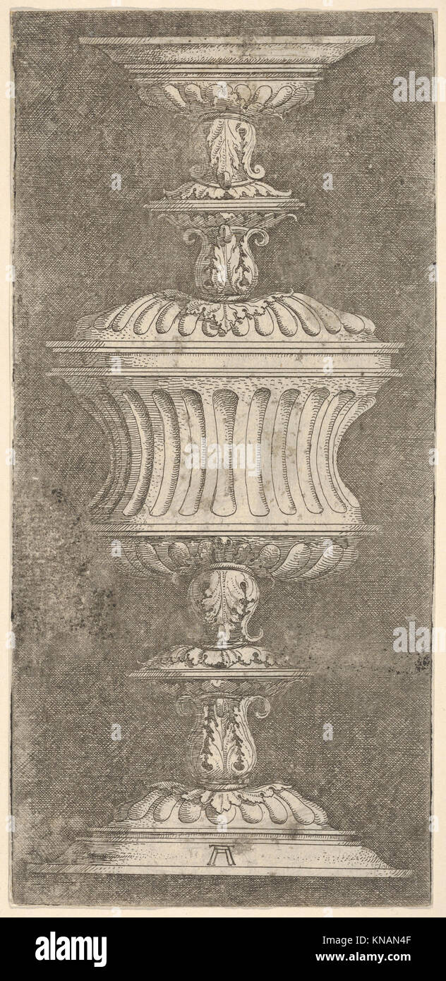 Double Goblet with Flutes and Acanthus-Leaves MET DP833098 430232 - Stock Image