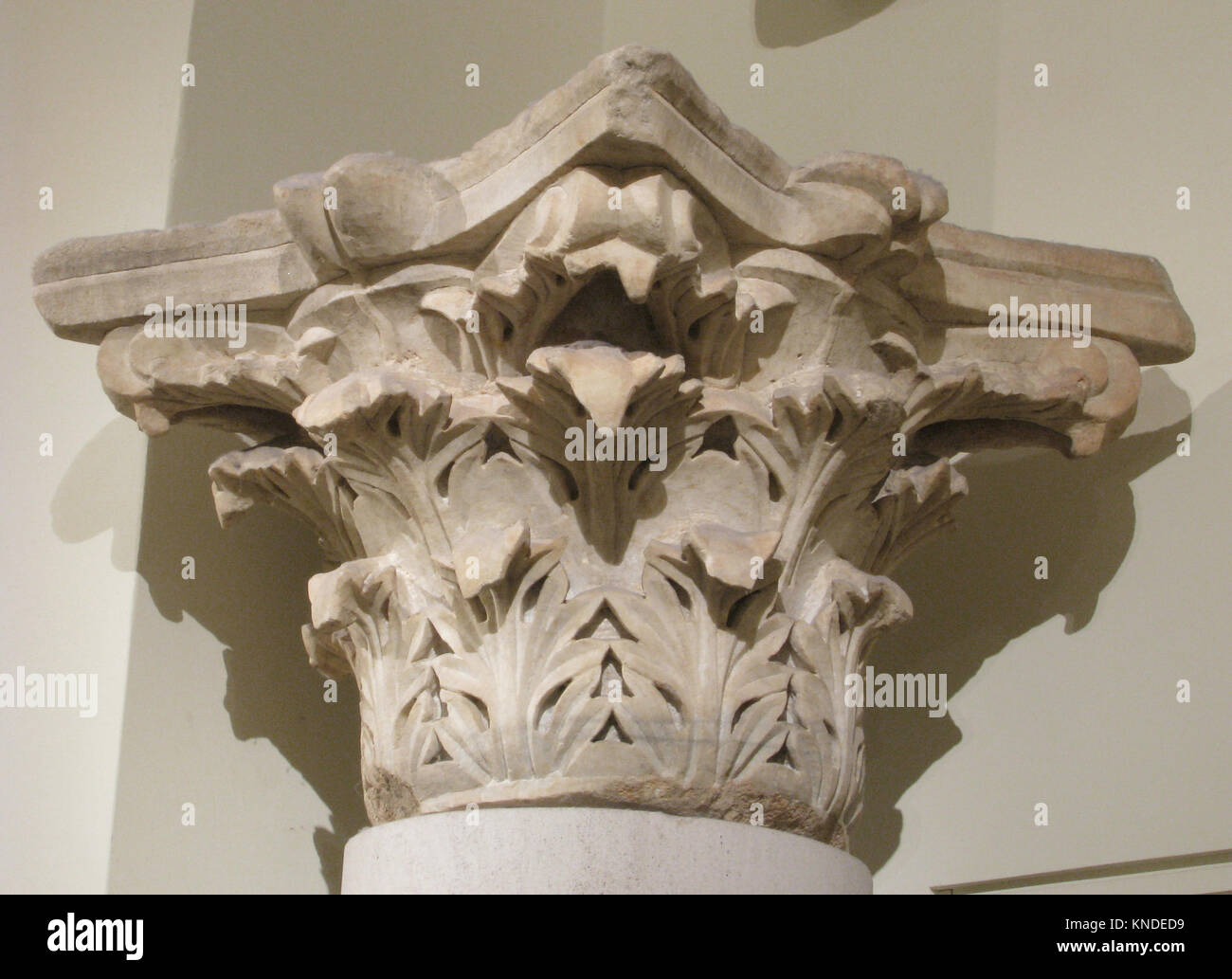Capital with Acanthus Leaves MET sf08-201-3s2 445349 - Stock Image