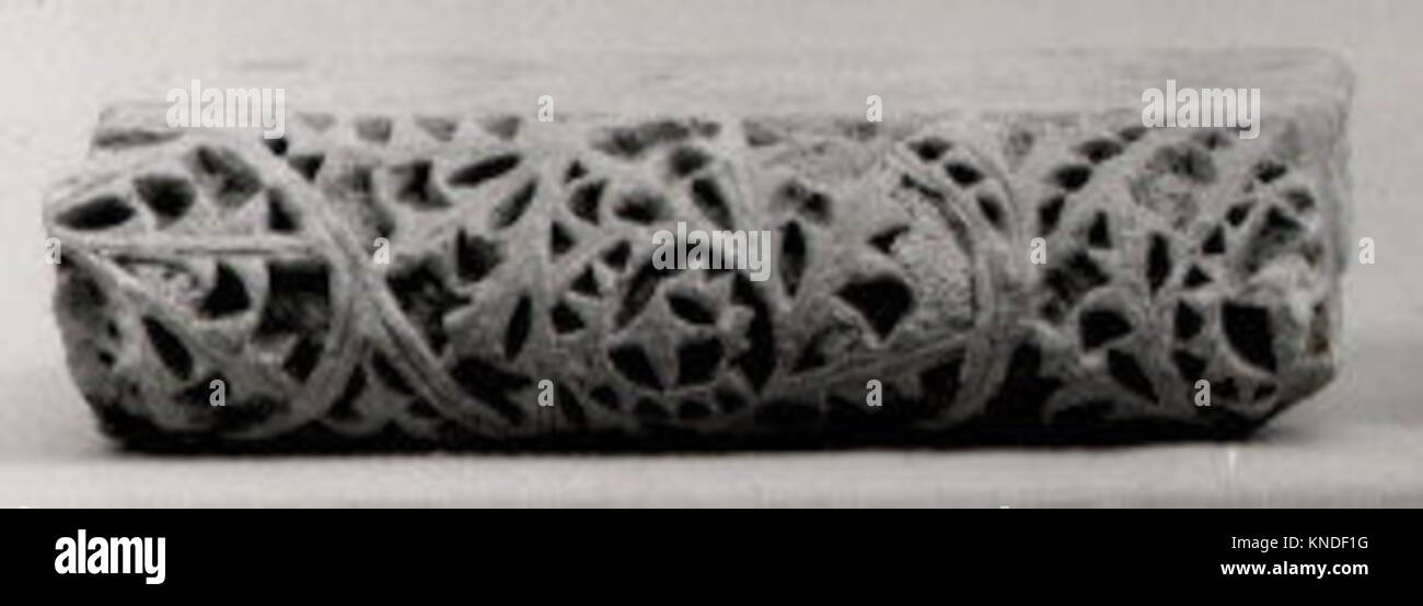 Fragment from a Molding with Scrolling Acanthus Leaves MET 9498a 456204 - Stock Image