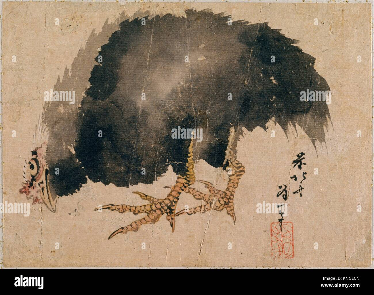 Album of Sketches by Katsushika Hokusai and His Disciples. Artist: Katsushika Hokusai (Japanese, Tokyo (Edo) 1760 - Stock Image
