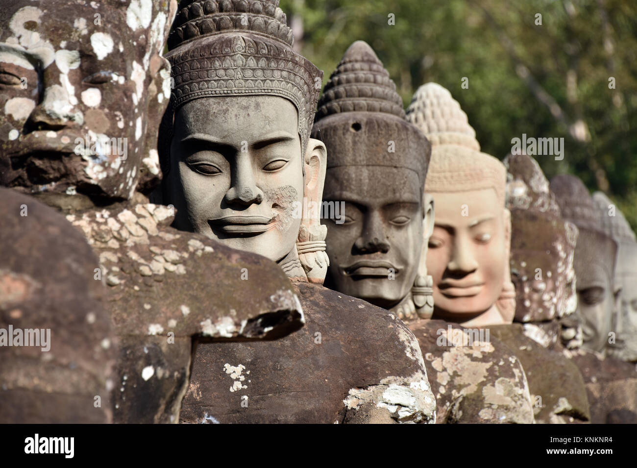 Cambodia - Temple at Siem Reap - Stock Image