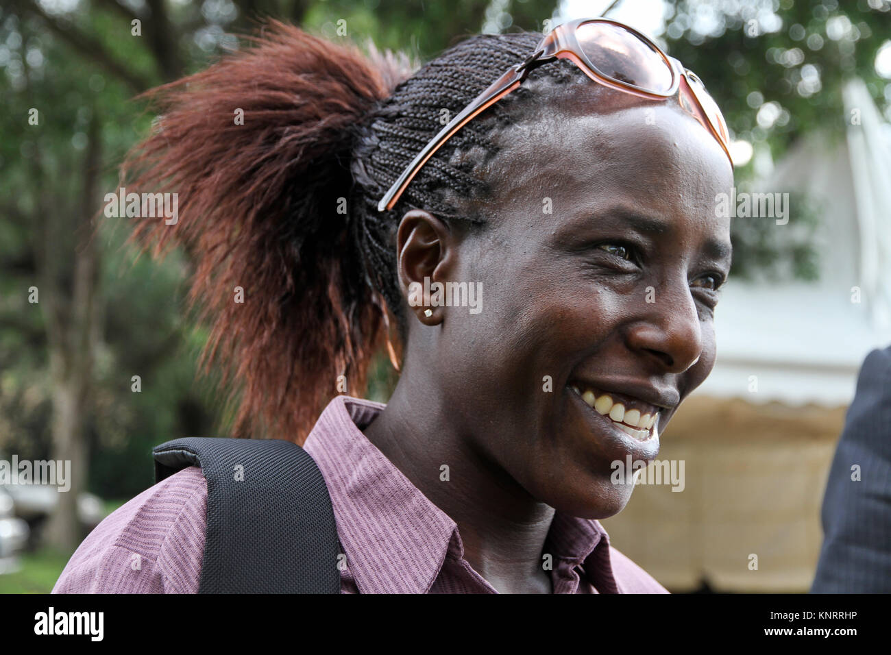 Long-distance runner Lornah Kiplagat - Stock Image