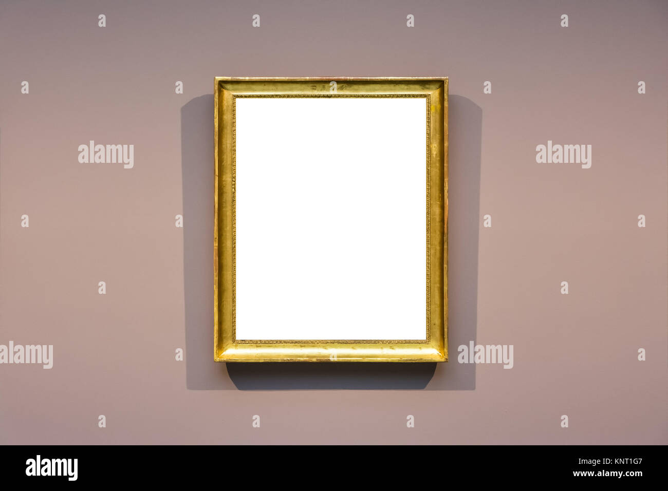 305e1845af4 Art Museum Frame Dark Grey Wall Ornate Minimal Design White Isolated Clipping  Path Template