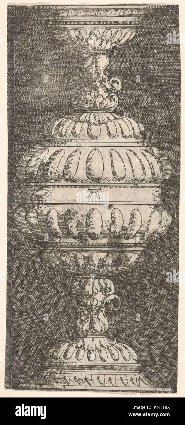 Double Goblet with Acanthus-Leaves. Artist: Albrecht Altdorfer (German, Regensburg ca. 1480-1538 Regensburg); Medium: - Stock Image