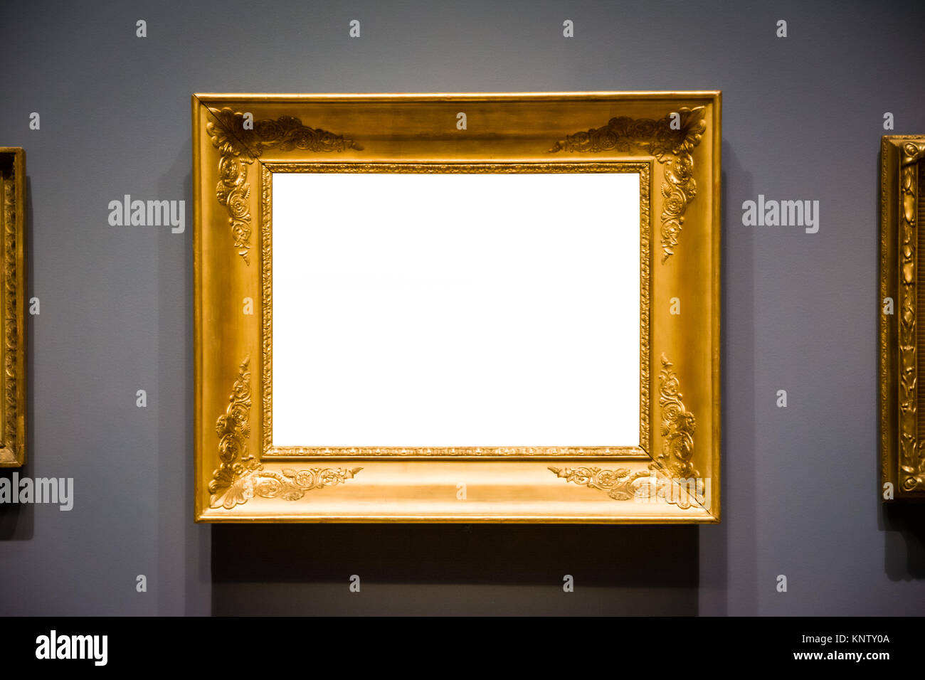 21bbfaf8306 Ornate Picture Frame Art Gallery Museum Exhibit Interior White Clipping Path  Isolated
