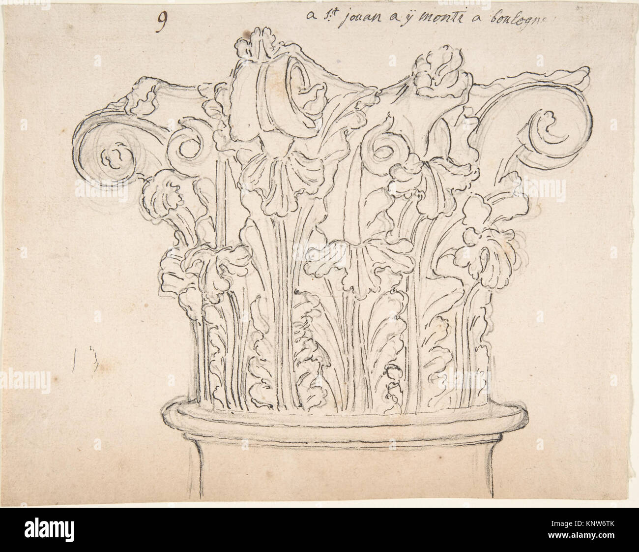 Capital with Acanthus Leaves MET DP808773 356272 - Stock Image