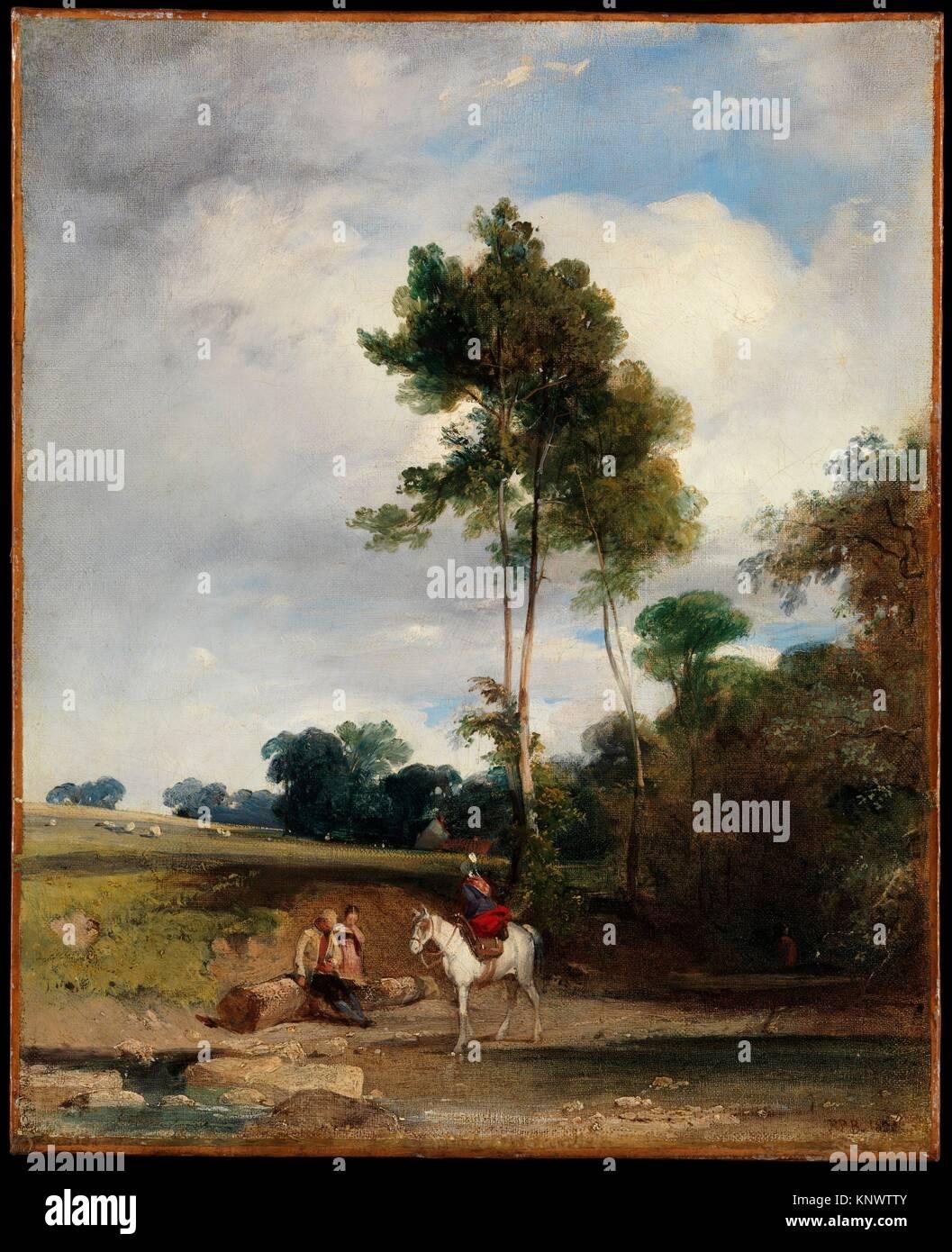 Roadside Halt. Artist: Richard Parkes Bonington (British, Arnold, Nottinghamshire 1802-1828 London); Date: 1826; - Stock Image