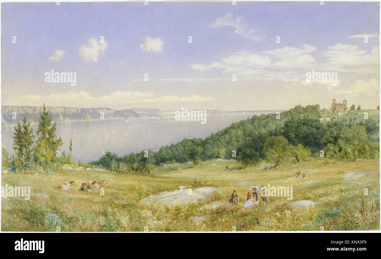 The Palisades. Artist: John William Hill (American (born England), London 1812-1879 West Nyack, New York); Date: - Stock Image