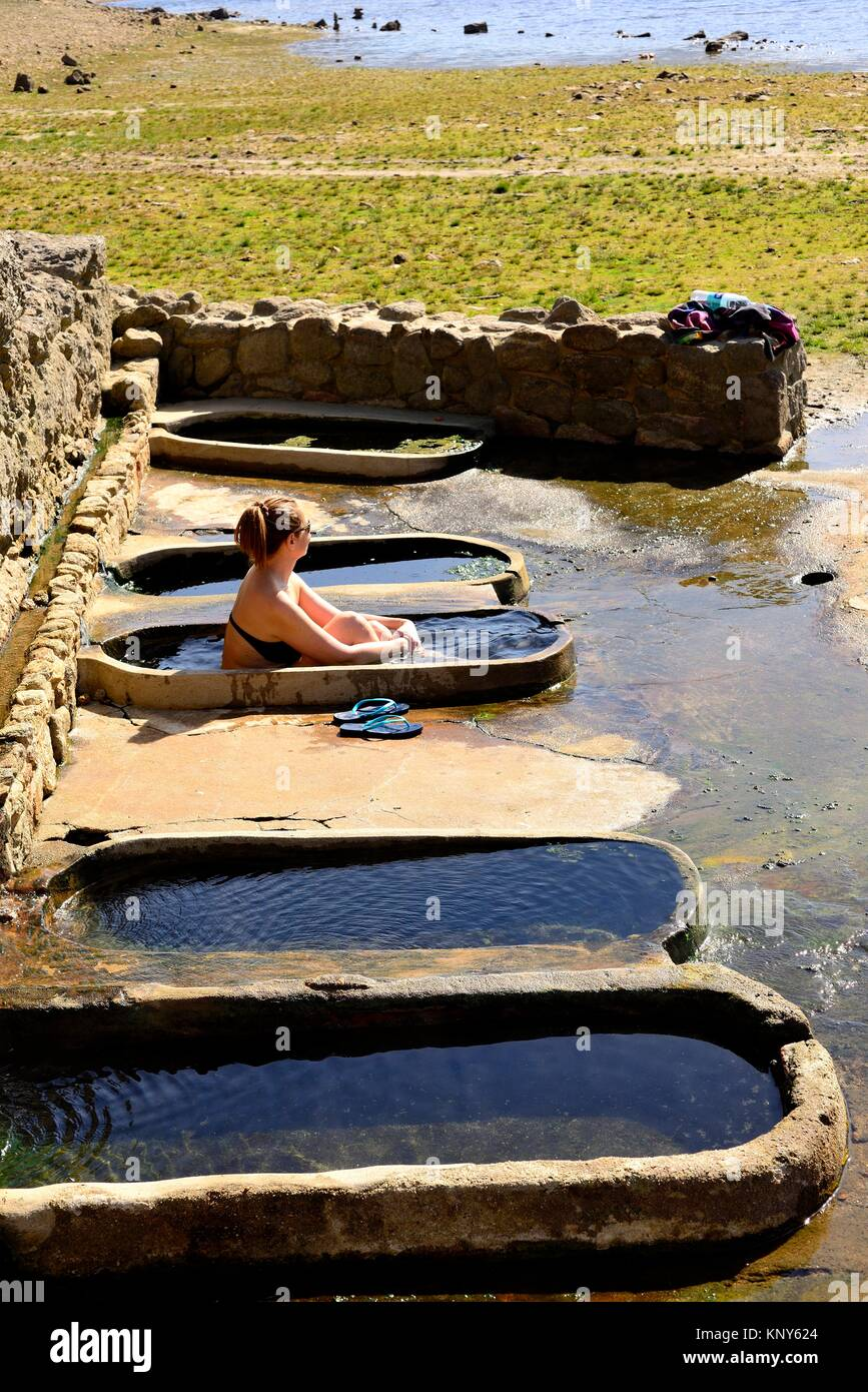 Basins Of Roman Bath Of Os Baños, Orense, Spain