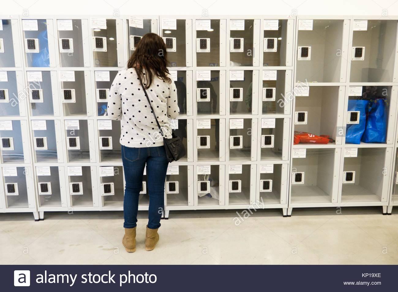 lockers, valencia, Spain - Stock Image