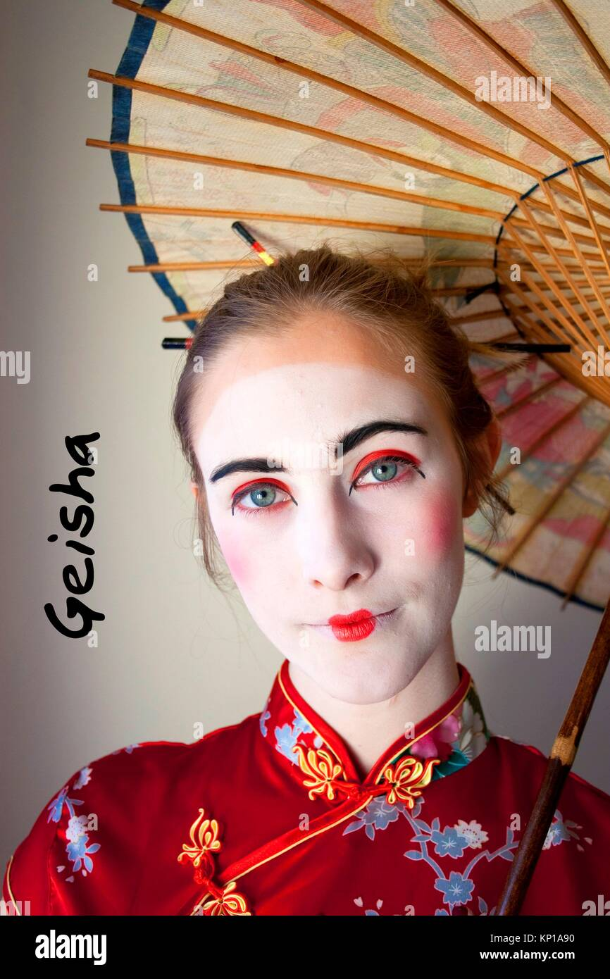 geisha - Stock Image