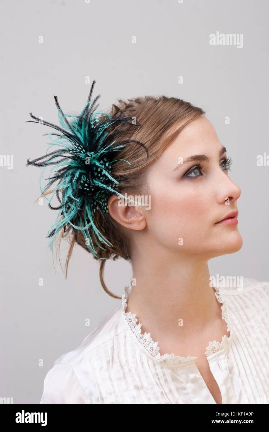head Style - headdress - Stock Image