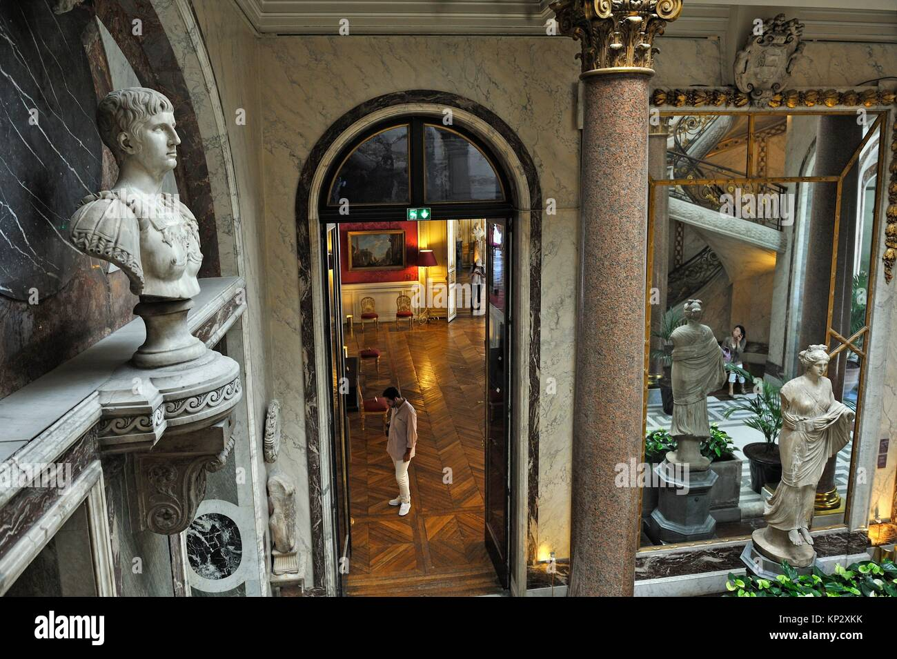 the Winter Garden of the Jacquemart-Andre Museum, property of the Institut de France, 8th arrondissement, Paris, Stock Photo